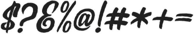 Rockaboy Rought italic otf (400) Font OTHER CHARS