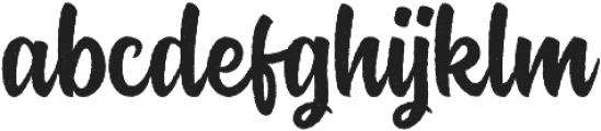 Rockaboy Rought otf (400) Font LOWERCASE