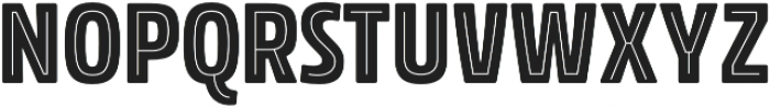 Rockeby Condensed Inline One otf (400) Font UPPERCASE