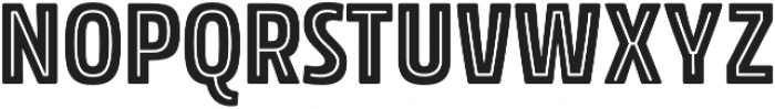 Rockeby Condensed Inline Two otf (400) Font UPPERCASE