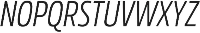 Rockeby Condensed Regular Italic otf (400) Font UPPERCASE