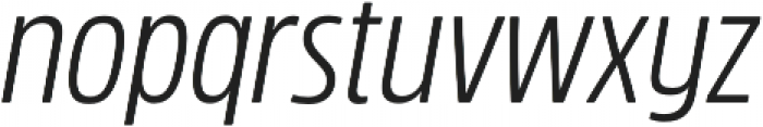 Rockeby Condensed Regular Italic otf (400) Font LOWERCASE