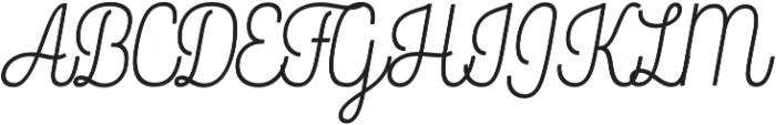 Rockeby Script One otf (400) Font UPPERCASE
