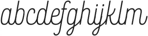 Rockeby Script One otf (400) Font LOWERCASE