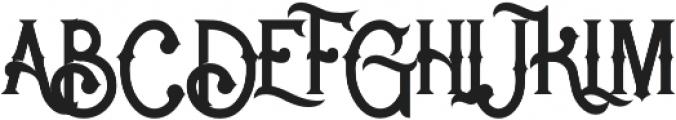 Rocket 2 Regular otf (400) Font UPPERCASE