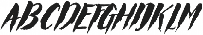 Rocket Italic otf (400) Font UPPERCASE