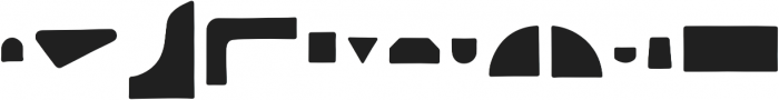 Rockford Shapes otf (400) Font LOWERCASE
