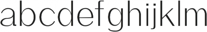 Rockley Light otf (300) Font LOWERCASE