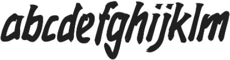 Rockmasta otf (400) Font LOWERCASE