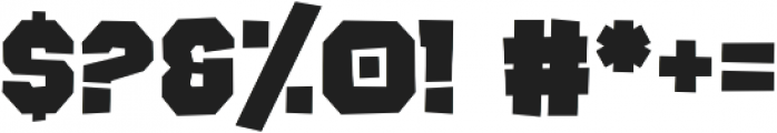 Rocky Road otf (400) Font OTHER CHARS