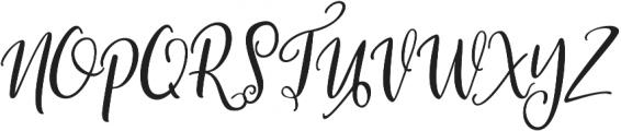 Roes Blues Italic Regular otf (400) Font UPPERCASE