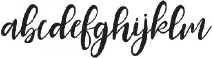Roes Blues Italic Regular otf (400) Font LOWERCASE