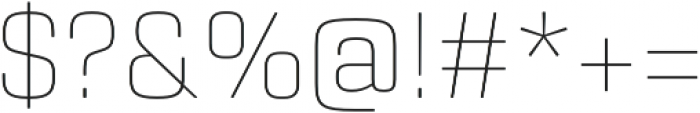 Rogan Thin otf (100) Font OTHER CHARS