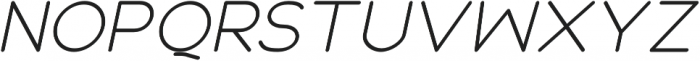 Roger Bold Italic otf (700) Font UPPERCASE