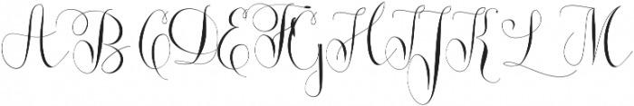 Roicamonta Curly otf (400) Font UPPERCASE