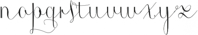 Roicamonta Curly otf (400) Font LOWERCASE