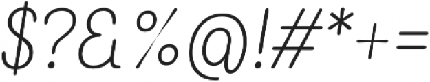 Rolade Italic Thin otf (100) Font OTHER CHARS