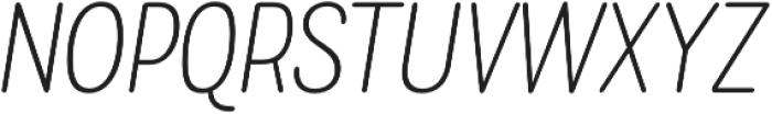 Rolade Italic Thin otf (100) Font UPPERCASE