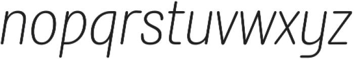 Rolade Italic Thin otf (100) Font LOWERCASE