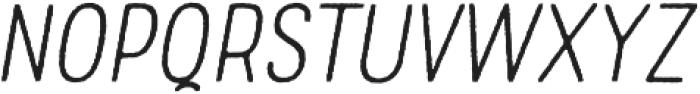 Rolade Rough Thin Italic otf (100) Font LOWERCASE