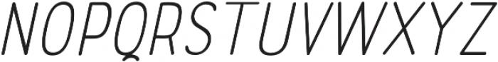 Rolade Thin Italic otf (100) Font LOWERCASE