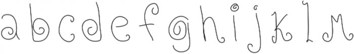 Roll Up ttf (400) Font LOWERCASE