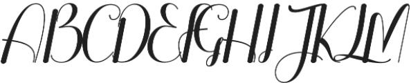 Rollent Regular otf (400) Font UPPERCASE