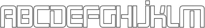 Roller Bold-Outline otf (700) Font UPPERCASE