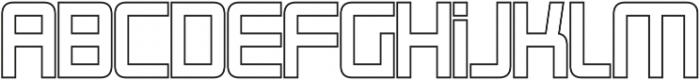 Roller Bold-Outline otf (700) Font LOWERCASE