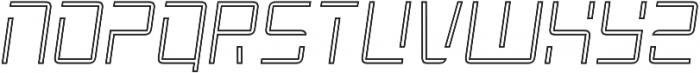 Roller Light-Outline-Italic otf (300) Font UPPERCASE