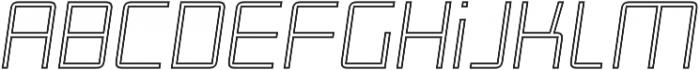 Roller Light-Outline-Italic otf (300) Font LOWERCASE