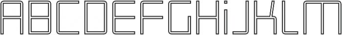 Roller Light-Outline otf (300) Font LOWERCASE