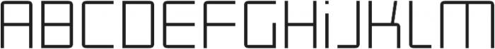 Roller Light otf (300) Font LOWERCASE