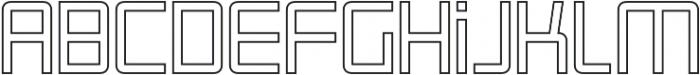 Roller Regular-Outline otf (400) Font LOWERCASE