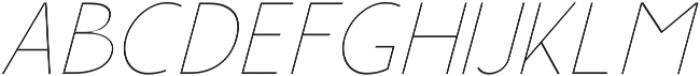 Rolves Light Italic otf (300) Font UPPERCASE
