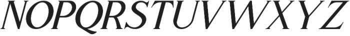 Romaniesta Italic otf (400) Font UPPERCASE