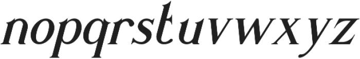 Romaniesta Italic otf (400) Font LOWERCASE