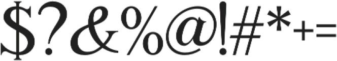 Romaniesta otf (400) Font OTHER CHARS