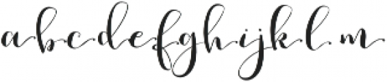 Romantic Right 3 otf (400) Font LOWERCASE