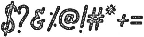 Romedhal Script Stamp otf (400) Font OTHER CHARS