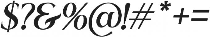 Romerio Italic otf (400) Font OTHER CHARS