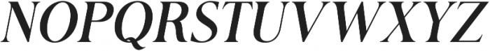 Romerio Italic otf (400) Font UPPERCASE