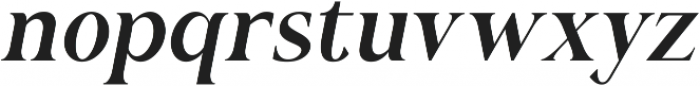 Romerio Italic otf (400) Font LOWERCASE