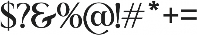 Romerio otf (400) Font OTHER CHARS