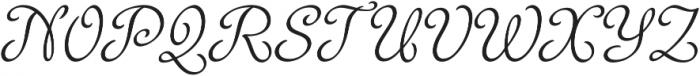 Rosabella Regular otf (400) Font UPPERCASE
