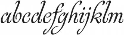 Rosabella Regular otf (400) Font LOWERCASE