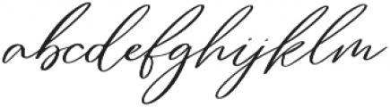 Rose Petals otf (400) Font LOWERCASE
