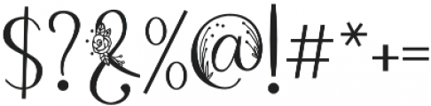 Rose petals two otf (400) Font OTHER CHARS