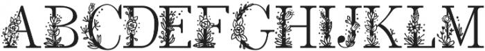 Rose petals two otf (400) Font UPPERCASE