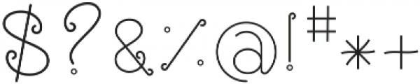 Rose ttf (400) Font OTHER CHARS
